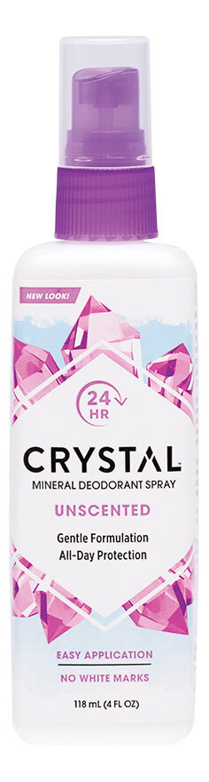Fragrance free deodorant spray