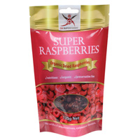 Organic Dried Raspberries 125g