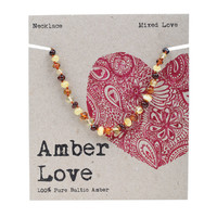 Baltic Amber Mixed Love Children's Necklace 33cm