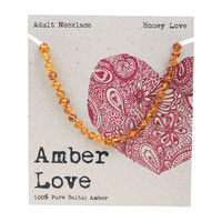 Baltic Amber Honey Adult's Necklace 46cm