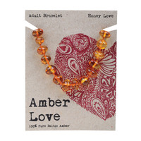 Baltic Amber Honey Adult's Bracelet 20cm