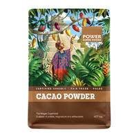 Raw Organic Cacao POWDER (Kraft Bag) 1Kg