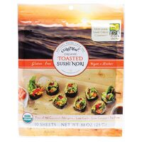 Organic Toasted Sushi Nori (10 Sheets) 25g