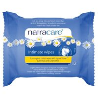 Organic Cotton Intimate Wipes 12 Pk