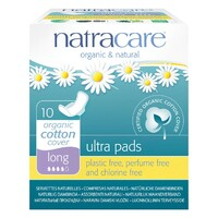 Long Ultra Natural Pads with Wings 10 Pk