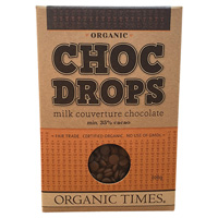 Organic Milk Chocolate Drops 200g