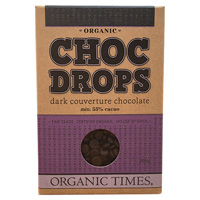 Organic Dark Chocolate Drops 200g