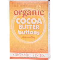 Organic Cocoa Butter Buttons 300g