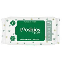 Tooshies Pure Baby Wipes 70 Pk