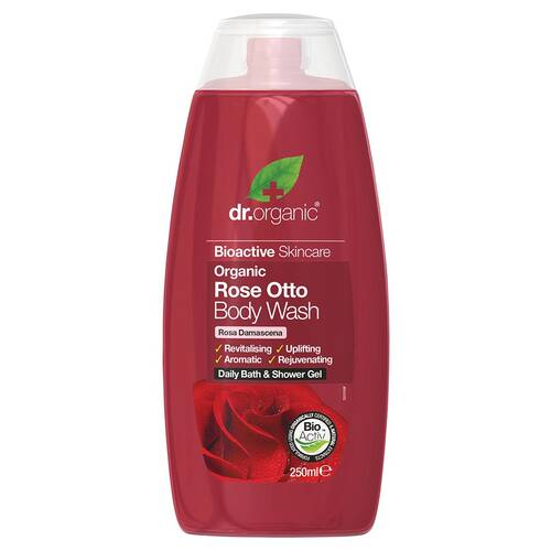 Organic Rose Otto Body Wash 250ml