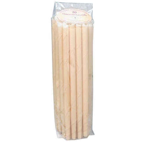 100% Unbleached Cotton Ear Candles 20 Pk