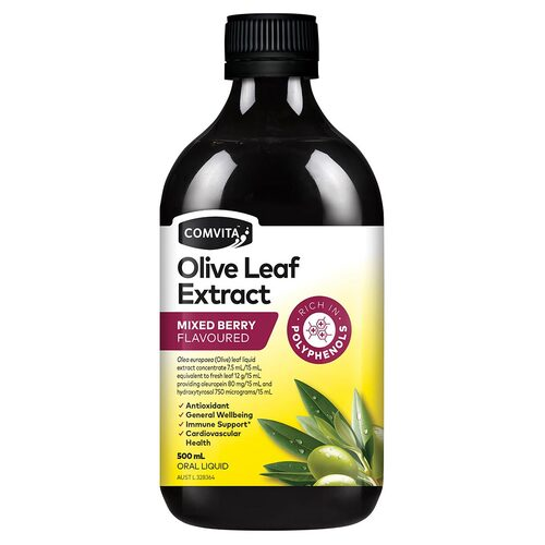 Mixed Berry Olive Leaf Extract 500ml