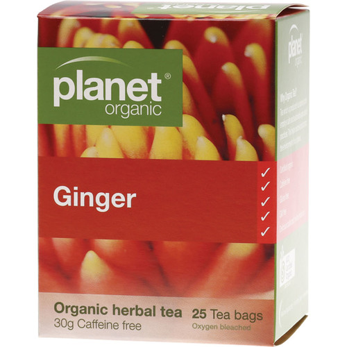 Organic Ginger Herbal Tea Bags x25