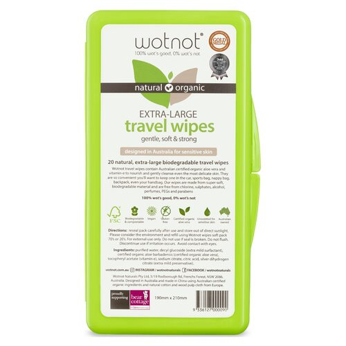 Biodegradable Wipes (with travel case) Wipes 20Pk
