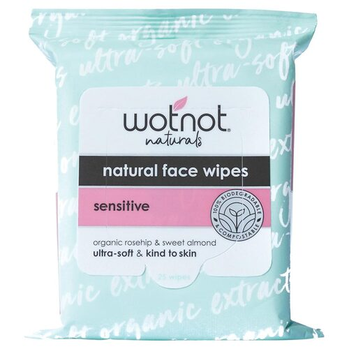 Sensitive Skin Facial Wipes 25 Pk