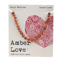 Baltic Amber Necklace - Cognac Love 46cm