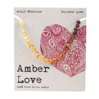 Baltic Amber Necklace - Rainbow Love 46cm