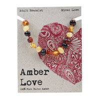 Baltic Amber Bracelet - Mixed Love 20cm