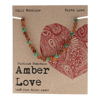 Baltic Amber Children's Necklace - Earth Love 33cm