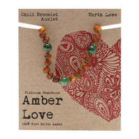 Baltic Amber Children's Bracelet - Earth Love 14cm