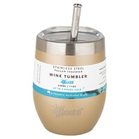 Insulated Wine Tumbler (+Straw) - Soft Gold 320ml