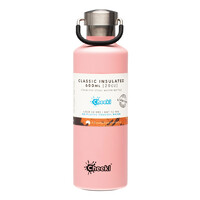 Insulated Stainless Steel Bottle - Pink 600ml