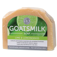 Lime & Lemongrass Goat's Milk Soap 140g