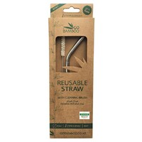 Bent Stainless Steel Straw (+Brush)