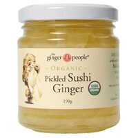 Organic Pickled Sushi Ginger 190g