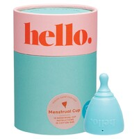 Small Medium Menstrual Cup - Blue