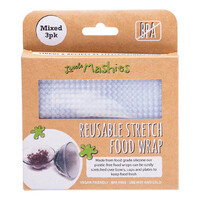 Reusable Stretch Food Wraps - Mixed x3
