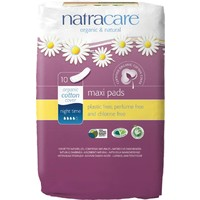 Natural Maxi Pads - Night Time x10