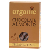 Organic Milk Chocolate Almonds 150g