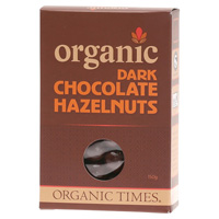 Organic Dark Chocolate Hazelnuts 150g