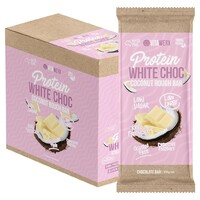 Coconut Rough Protein White Choc Bars (12x100g)