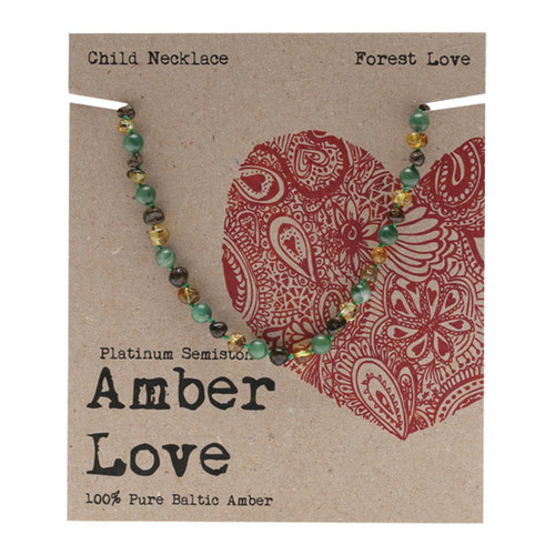 Baltic Amber Children's Necklace - Forrest Love 33cm
