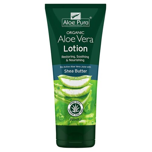 Organic Aloe Vera Lotion + Shea Butter 200ml