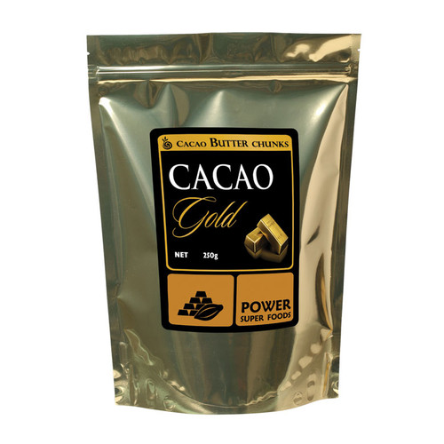 Organic GOLD Cacao Butter Chunks 250g