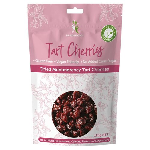 Natural Dried Tart Cherries 125g