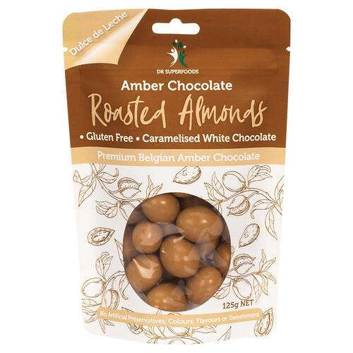Amber Chocolate Roasted Almonds 125g