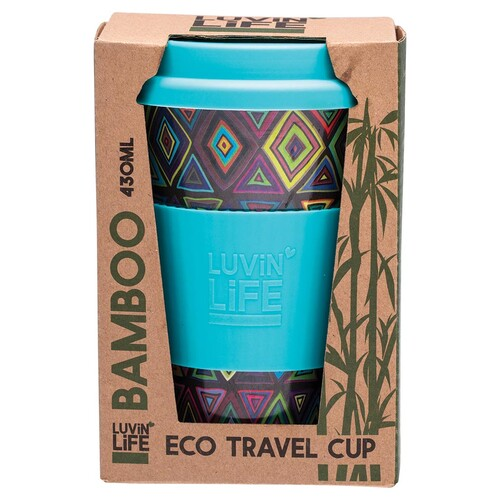 Bamboo Eco Travel Cup - Retro 430ml