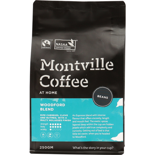 Organic Coffee - Woodford Blend (Beans) 250g