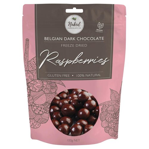 Dark Chocolate Raspberries 125g