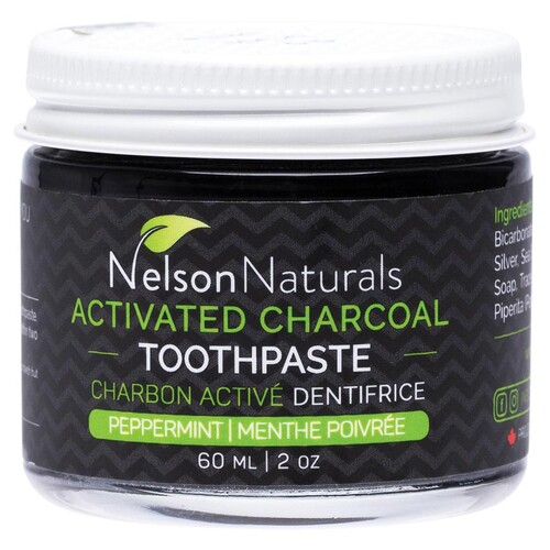 Activated Charcoal Toothpaste - Peppermint 60ml