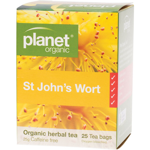Organic Herbal Tea Bags - St John's Wort x25