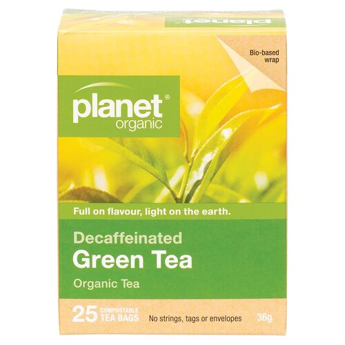 Organic Tea Bags - Green Tea (Decaf) x25
