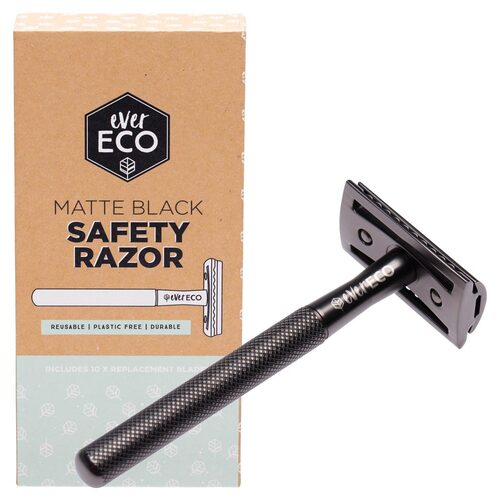 Matte Black Safety Razor + Replacement Blades